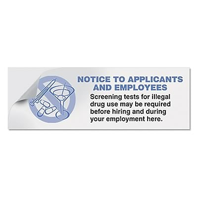 ComplyRight™ Drug Free Workplace Job Application Stickers, 100/roll