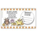 House Mouse® Dual Imprint Peel Off Sticker Appointment Cards; Mouse Holiday