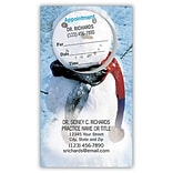 Medical Arts Press® Dual-Imprint Peel-Off Sticker Appointment Cards; Snow Man