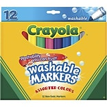 Crayola® Classic Colors Washable Markers; Broad Tip; 12/Box