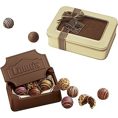 Chocolate Inn® Chocolate Edible Box Filled with Truffles; 10oz.
