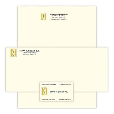 photo about Embossed Stationery referred to as Health care Arts Press® Gold Foil-Embossed Stationery Sets; Emblem 237