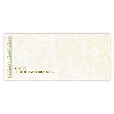 medical arts press gift certificate envelope 100 box quill com