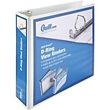 Quill Brand® 2 D-Ring Binder; View, White, 3-Ring