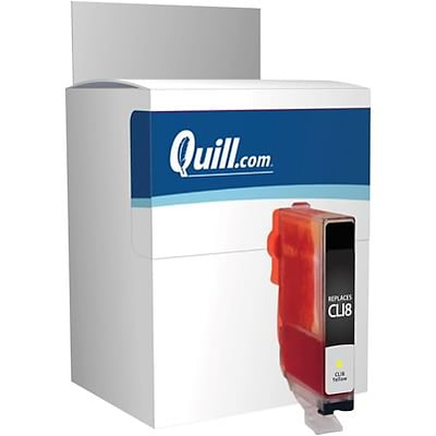 Quill Brand Remanufactured Ink Cartridge Comparable to Canon® CLI-8Y Yellow (100% Satisfaction Guaranteed)