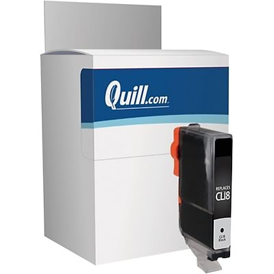 Quill Brand® Canon CLI-8 Remanufactured Black Ink Cartridge, Standard Yield (0620B002) (Lifetime Warranty)