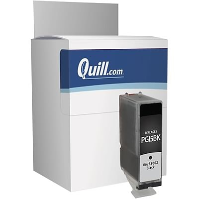 Quill Brand Remanufactured Ink Cartridge Comparable to Canon® PGI-5BK Black (100% Satisfaction Guaranteed)
