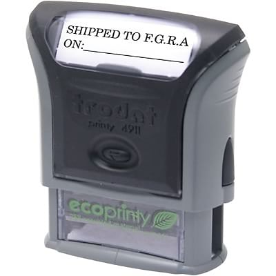 Trodat® Eco-Printy Self-Inking Message Stamp; 9/16x1-1/2, Up to 3 Lines