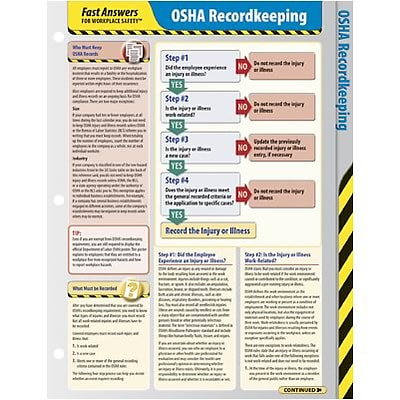 ComplyRight™ Fast Answers for Workplace Safety™; OSHA Recordkeeping