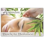 Medical Arts Press® Chiropractic Standard 4x6 Postcards; Acupuncture/Balance