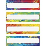 Trend Splashy Colors Name Plates