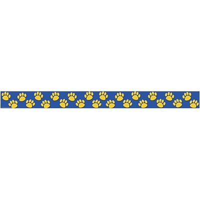 Border Trim; Blue with Gold Paw Prints