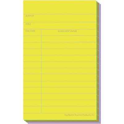 Top Notch Assorted Brite Index Cards; Box of 50
