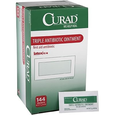 Curad® Triple Antibiotic Ointment; Packets