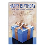 Medical Arts Press® Chiropractic Birthday Cards; Physical Therapist, Present,  Blank Inside