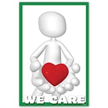 Medical Arts Press® Medical Standard 4x6 Postcards; Clay Guy, We Care