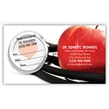 Medical Arts Press® Dual-Imprint Peel-Off Sticker Appointment Cards; Apple Stethoscope