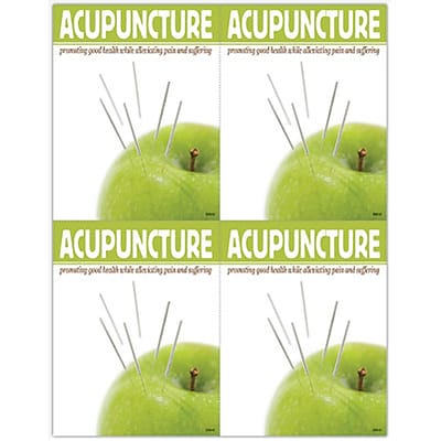 Acupuncture Laser Postcards; Apple