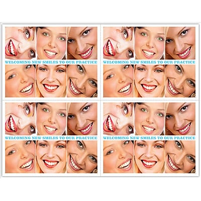 Graphic Image Laser Postcards; Smiles