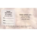 Medical Arts Press® Dual-Imprint Peel-Off Sticker Appointment Cards; Premium, Taupe Swirl