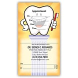 Medical Arts Press® Single-Imprint Peel-Off Sticker Appointment Cards; Standard, Tooth/Pedestal