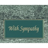 Medical Arts Press® Marble Classics Note Cards; Sympathy, Personalized