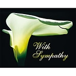 Medical Arts Press® Sympathy Greeting Cards; Black with Lily, Personalized