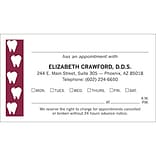 Medical Arts Press® 2-Color Dental Appointment Cards; Teeth at Edge