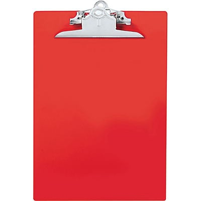 Saunders® Recycled Plastic Clipboards; Red