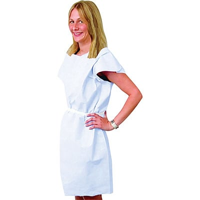 Medical Arts Press® Disposable Standard Exam Gowns; Blue
