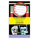 Medical Arts Press® Single-Imprint Peel-Off Sticker Appointment Cards; Toothguy®, Brushing