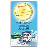 Medical Arts Press® Single-Imprint Peel-Off Sticker Appointment Cards; Toothguy® Skiing