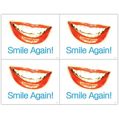 Cosmetic Dentistry Laser Postcards; Smile Again