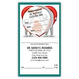 Medical Arts Press® Dual-Imprint Peel-Off Sticker Appointment Cards; Clay Guy, We Care