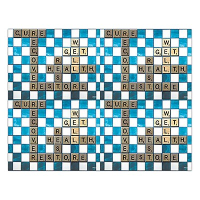 Graphic Image Laser Postcards; Scrabble Get Well