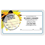 Medical Arts Press® Dual-Imprint Peel-Off Sticker Appointment Cards; Butterfly/Flower
