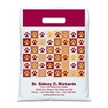 Medical Arts Press® Veterinary Personalized Large 2-Color Supply Bags, Paw Print Quilt