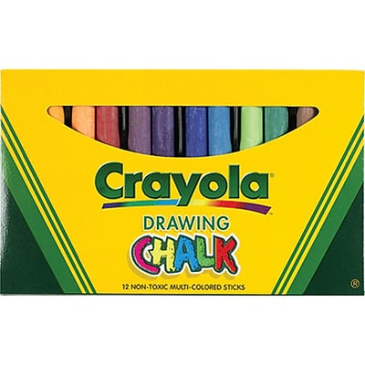 Crayola® Colored Drawing Chalk; Assorted, 12/Box