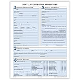 Medical Arts Press®  Dental Registration Forms Featuring Updates Section, Unpunched, Sky Blue