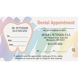 Medical Arts Press® Dual-Imprint Peel-Off Sticker Appointment Cards; Standard, Scribbles