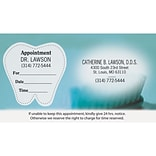 Medical Arts Press® Dual-Imprint Peel-Off Sticker Appointment Cards; Standard, Toothbrush Photo