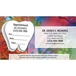 Medical Arts Press® Dual-Imprint Peel-Off Sticker Appointment Cards; Standard, Satin Look