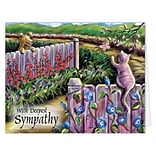 Medical Arts Press® Veterinary Sympathy Cards; Garden/Pets, Personalized Inside