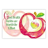 Medical Arts Press® Medical Standard 4x6 Postcards; Ounce of Prevention Apple