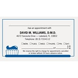 Medical Arts Press® 2-Color Dental Appointment Cards; Toothbrush