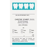 Medical Arts Press® 2-Color Dental Appointment Cards; Teeth at Top