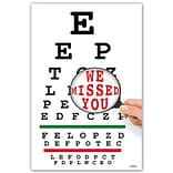 Medical Arts Press® Eye Care Standard 4x6 Postcards; Eye Chart Magnify