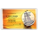 Medical Arts Press® Dual-Imprint Peel-Off Sticker Appointment Cards; Boat Sunset