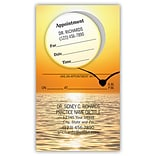 Medical Arts Press® Dual-Imprint Peel-Off-Sticker Appointment Cards; Seagull Sunset