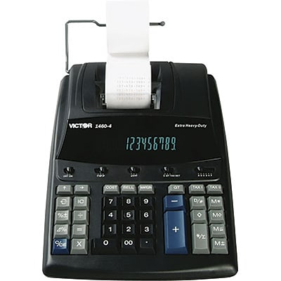Victor® 1460-4 Extra Heavy-Duty Commercial 12-Digit Printing Calculator